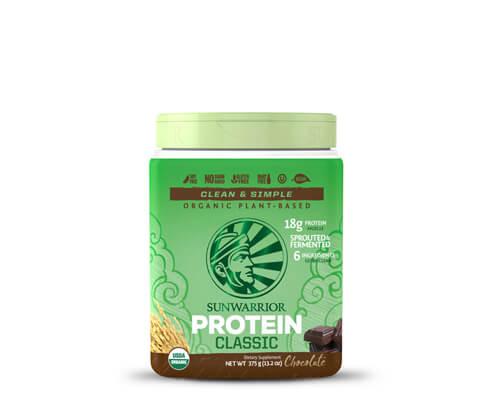 sunwarrior classic protein proteine di riso in polvere cioccolato