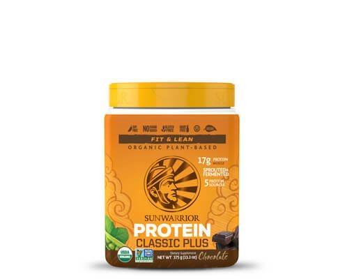 sunwarrior classic plus proteine vegetali in polvere cioccolato