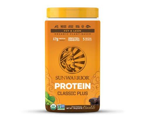 sunwarrior classic plus proteine vegetali cioccolato