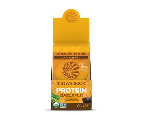 sunwarrior classic plus proteine vegetali 12 monodosi cioccolato