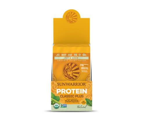 sunwarrior classic plus proteine vegetali 12 monodosi