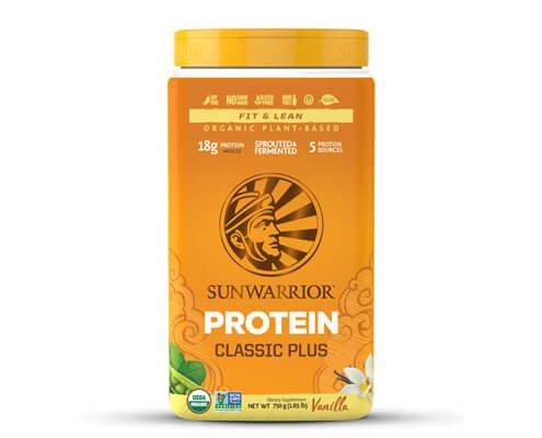 sunwarrior classic plus proteine vegetali vaniglia