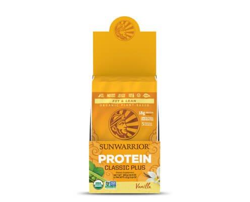 sunwarrior classic plus proteine vegetali 12 monodosi vaniglia