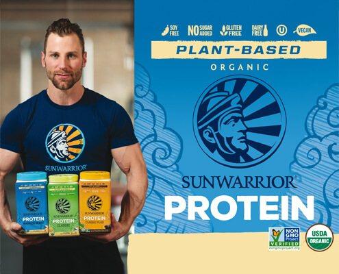 linee di proteine in polvere vegetali di Sunwarrior