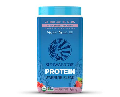 sunwarrior warrior blend berry proteine vegetali in polvere frutti di bosco