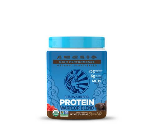 sunwarrior warrior blend cioccolato mocha miscela proteine vegetali in polvere