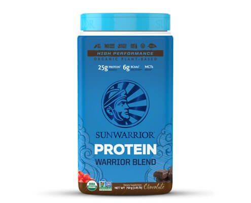sunwarrior warrior blend cioccolato miscela proteine vegetali in polvere
