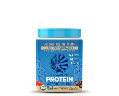 sunwarrior warrior blend mocha miscela proteine vegetali in polvere