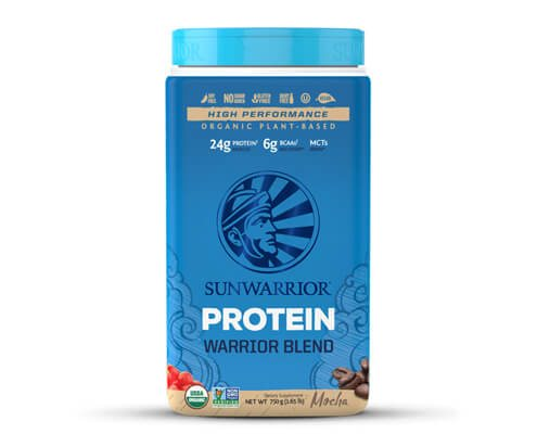 sunwarrior warrior blend proteine in polvere mocha