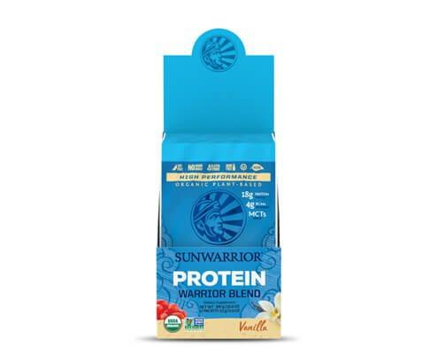 sunwarrior warrior blend vaniglia proteine vegetali in polvere 12 monodosi